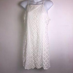 Paper Crane white lace dress size large
